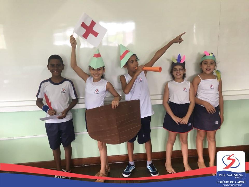 4º ano realiza encenação da chegada dos portugueses ao Brasil