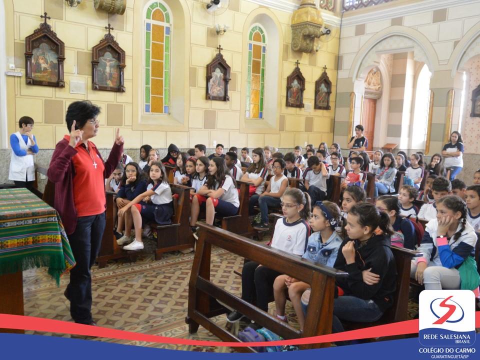 Convivência da pastoral com os alunos dos 5º e 6º anos