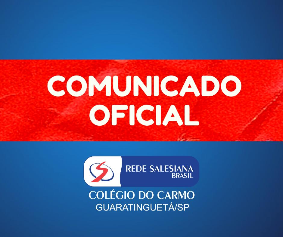 Comunicado Oficial - Próximos dias