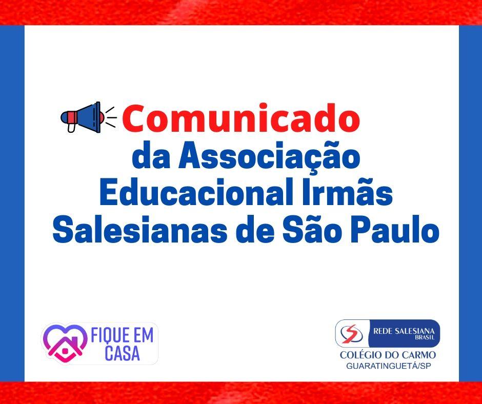 Comunicado da Associação Educacional Irmãs Salesianas de São Paulo