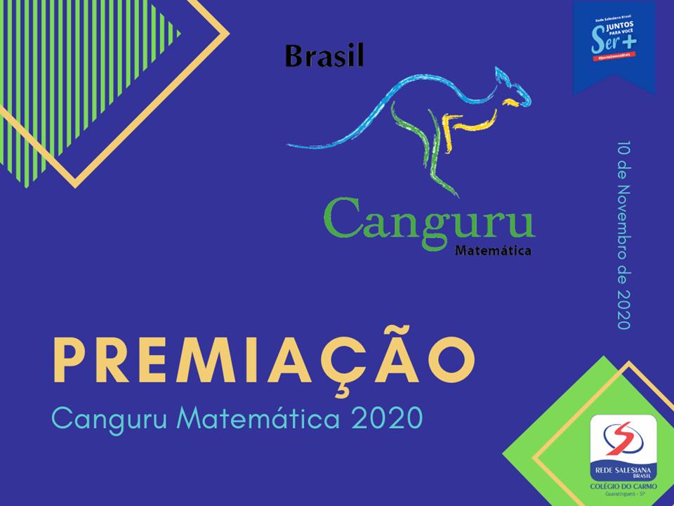 Alunos do Carmo são premiados no Canguru de Matemática 2020