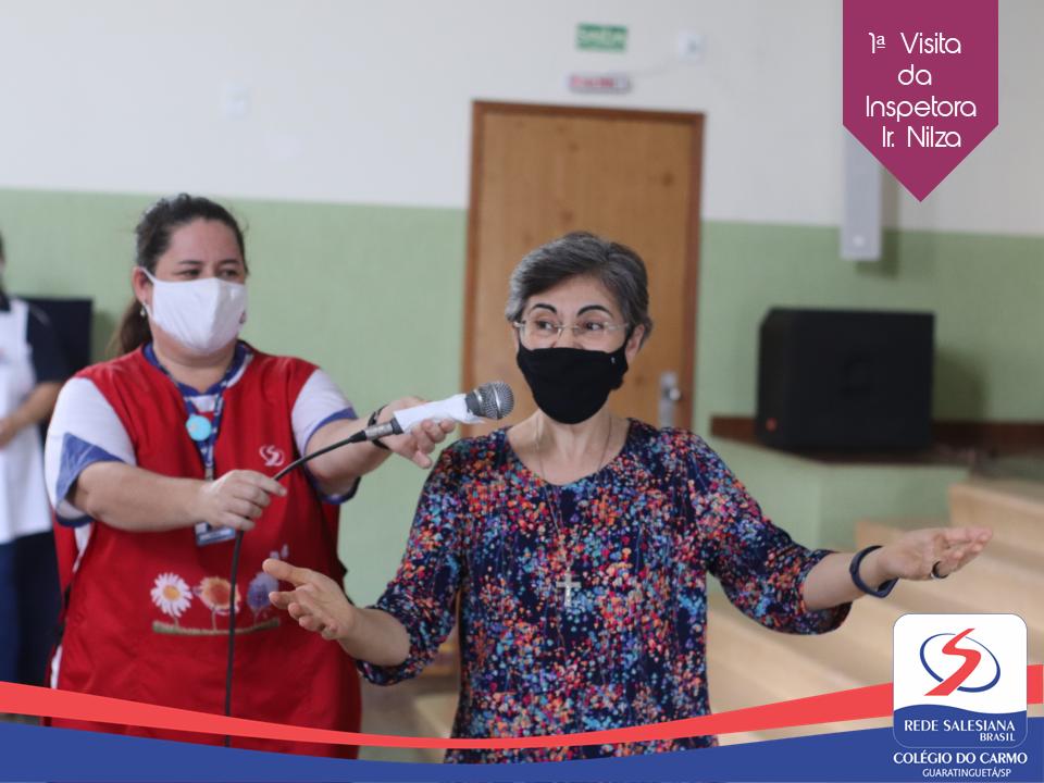 Irmã Nilza, ex-diretora do Carmo, realiza 1ª visita como Inspetora ao nosso Colégio
