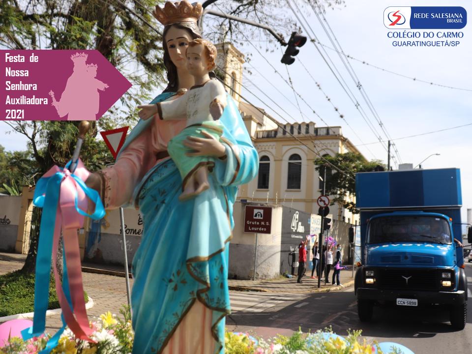 Colégio do Carmo celebra Missa e realiza carreata pelas ruas da cidade comemorando Nossa Senhora Auxiliadora